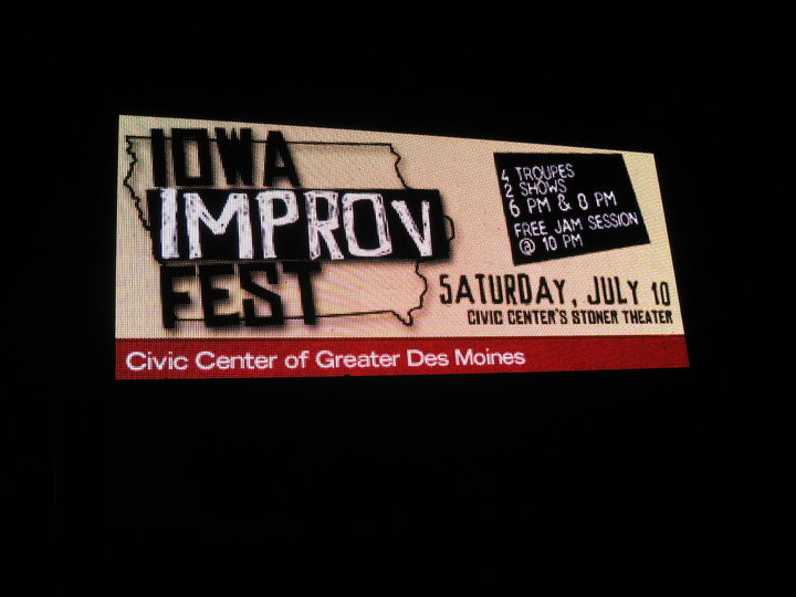 Imrpov Iowa Festival Sign