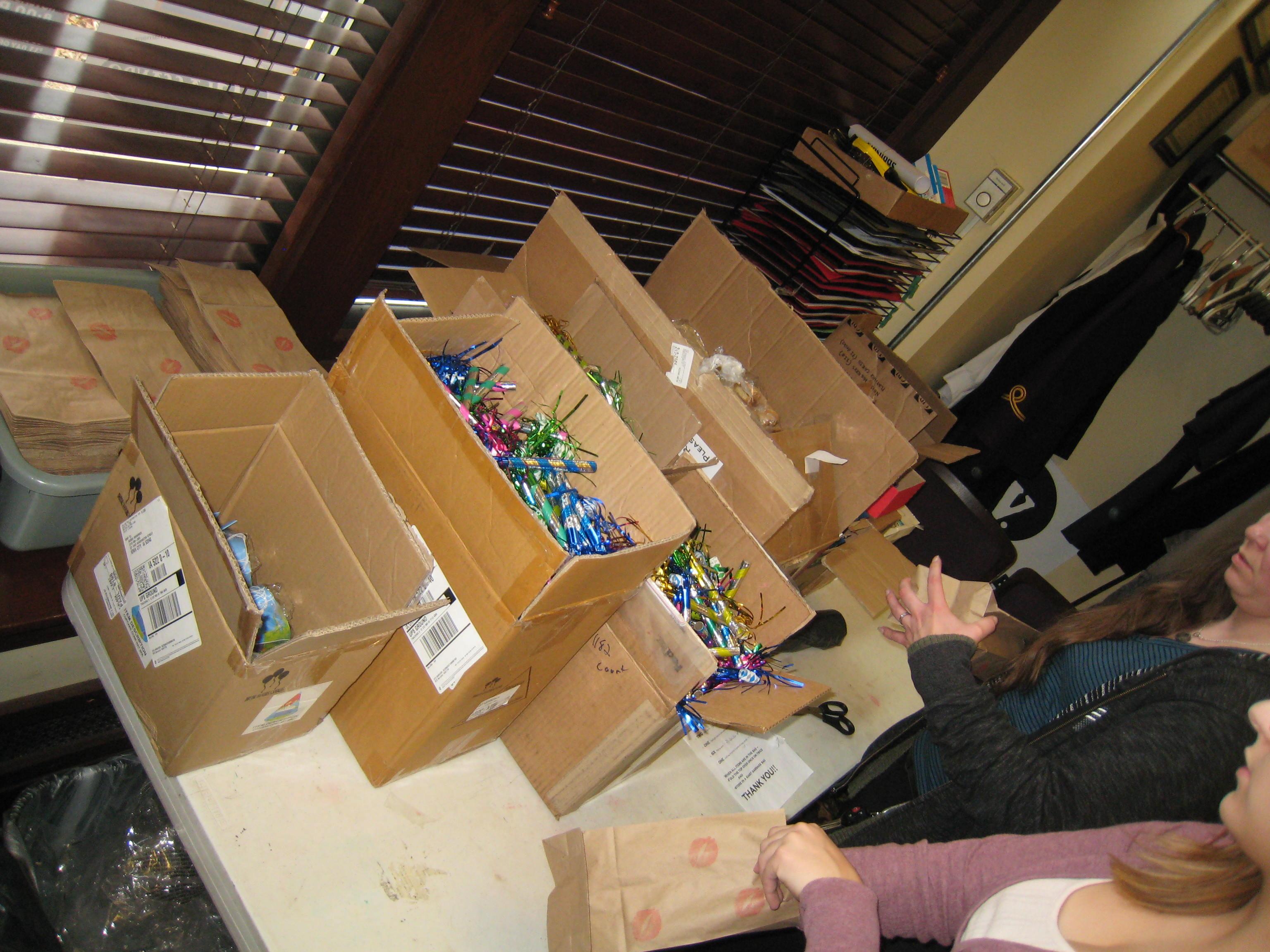 The Englert builds 'Goody Bags'